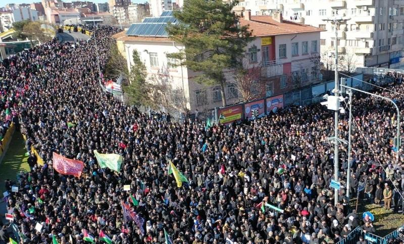 Diyarbakır'dan işgalci ABD ve terör çetesine: Kudüs Müslümanlarındır, satılık değildir