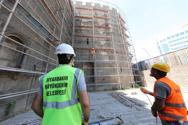 Diyarbakır Dağkapı Burçları yenileniyor