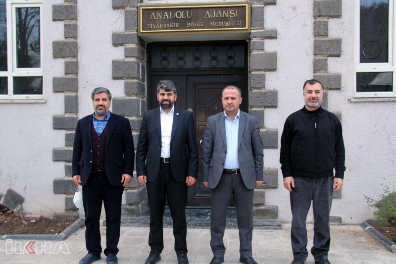 Diyarbakır İl Başkanı Dinç'ten AA Diyarbakır Bölge Müdürlüğüne ziyaret