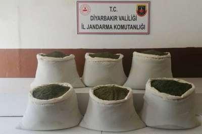 Diyarbakır Lice'de toz esrar ele geçirildi