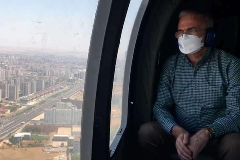 Diyarbakır'da Bayram öncesi havadan trafik denetimleri yapıldı