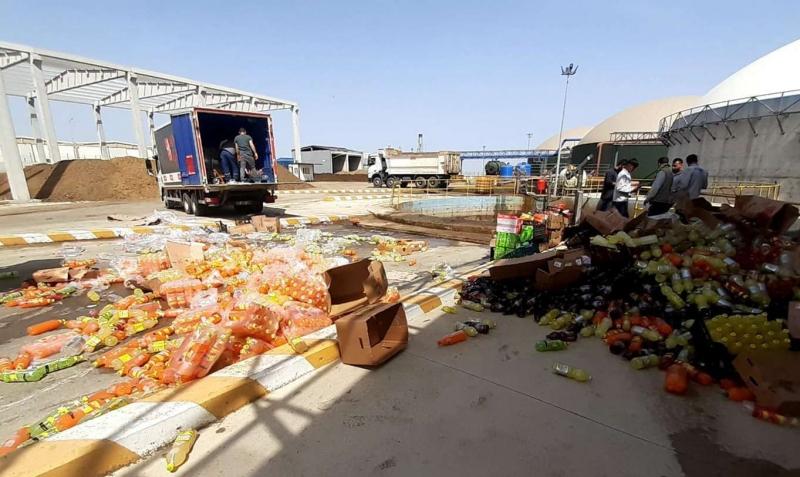 Diyarbakır'da ele geçirilen 5 ton bozuk gıda ürünü imha edildi