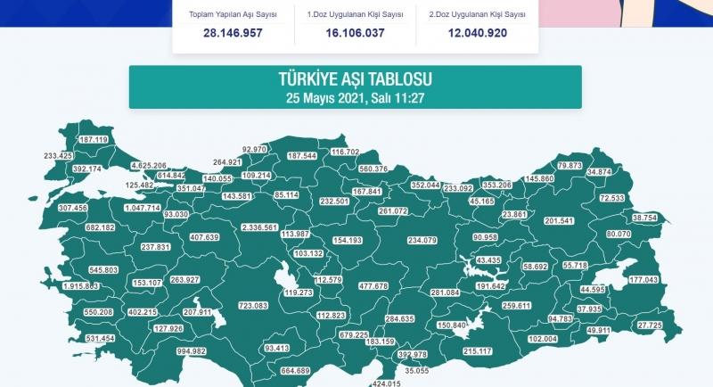 Diyarbakır'da kaç kişi aşı oldu?