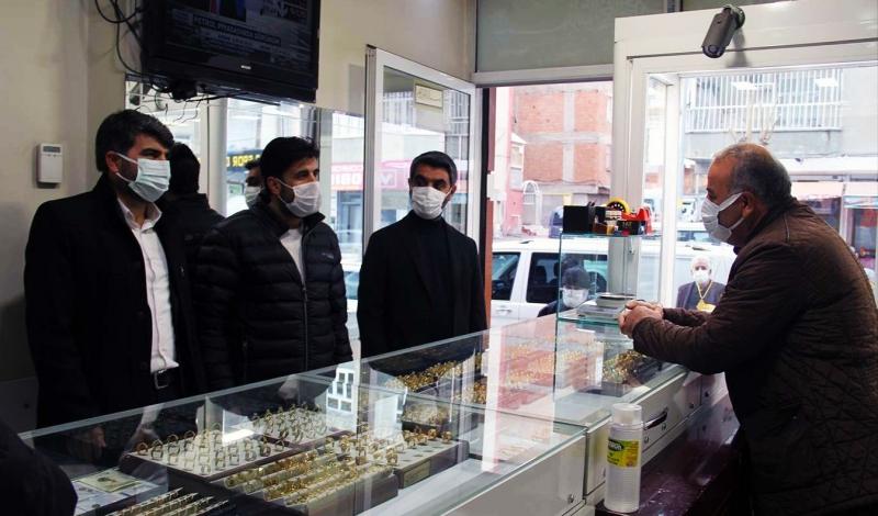 HÜDA PAR Diyarbakır İl Başkanı Dinç'ten esnaf ziyareti