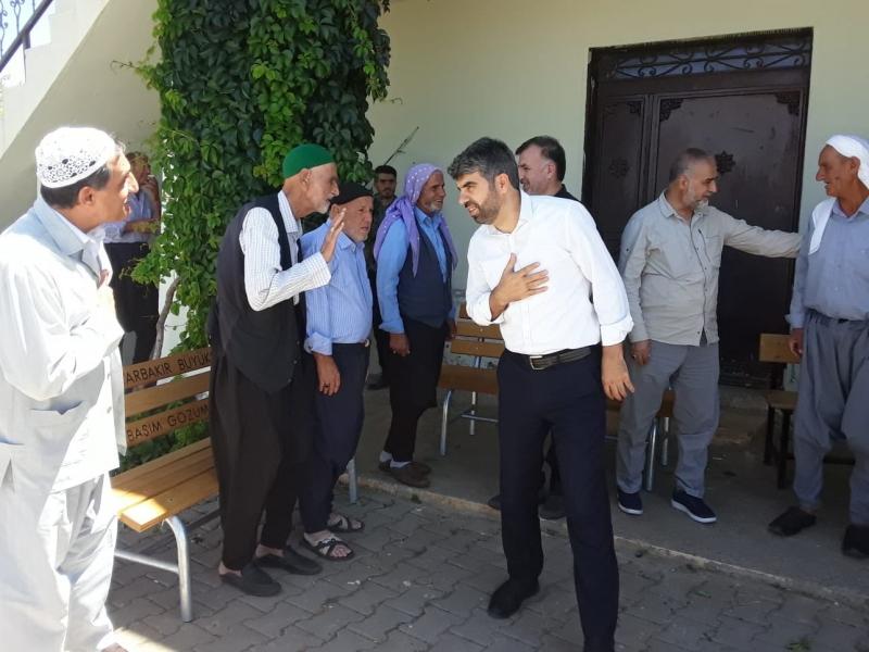 HÜDA PAR Diyarbakır İl Başkanı Dinç köy ziyaretlerini sürdürüyor