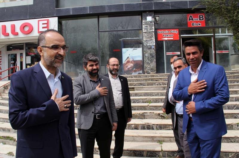 HÜDA PAR Genel Başkanı Sağlam'dan KDP Genel Başkanı Akıcı'ya ziyaret