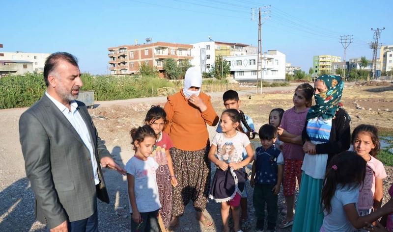 HÜDA PAR Yenişehir İlçe Başkanı Beber, Çelikevler Mahalle sakinlerinin sorunlarını dinledi