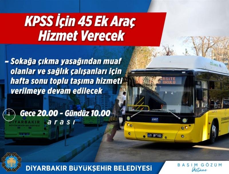 KPSS için 45 ek araç hizmet verecek