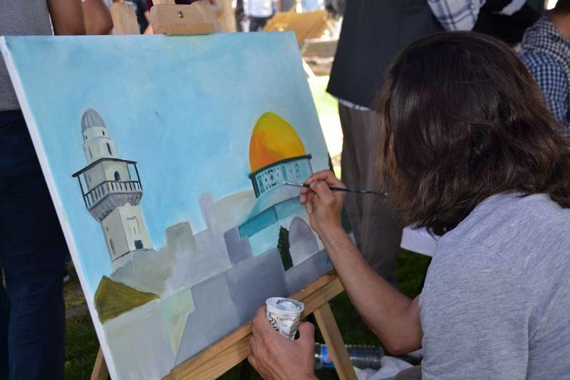 Kudüs için düzenlenen resim sergisine yoğun ilgi