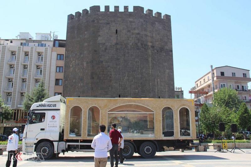 Minia Kudüs tırı Diyarbakır'da