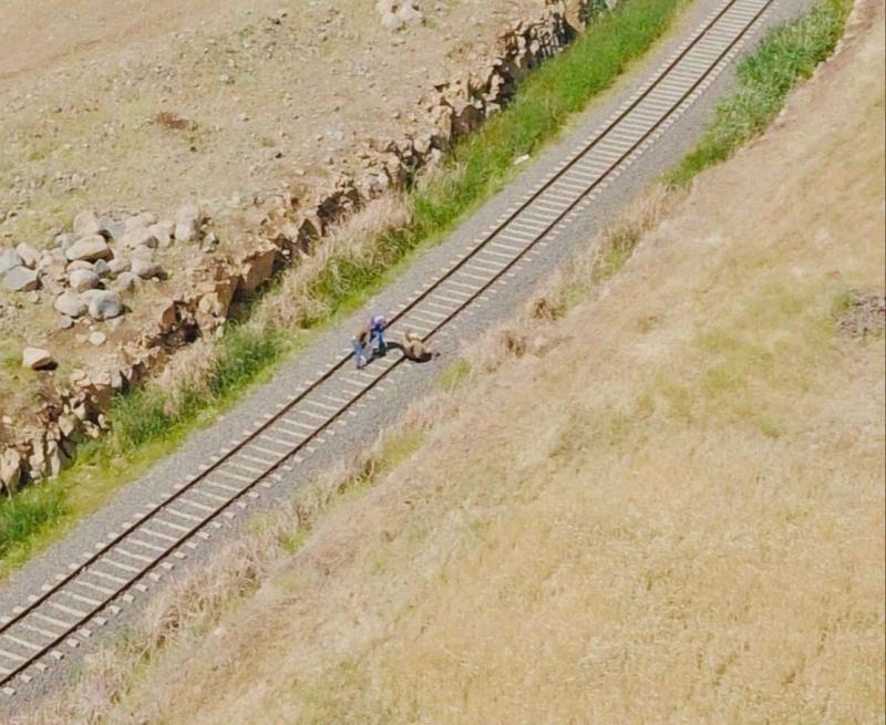 Tren raylarını çalarken yakalandılar